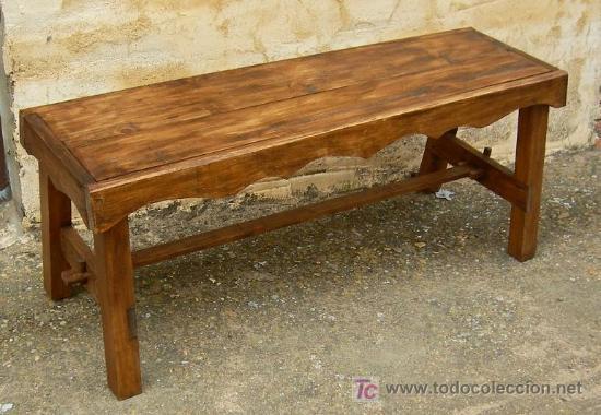 banco de madera rustico de 120 cm de ancho, mue - Comprar Sillas ...