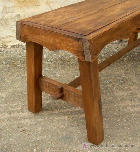 Banco de madera rustico de 120 cm de ancho mue comprar - Bancos de madera rusticos ...