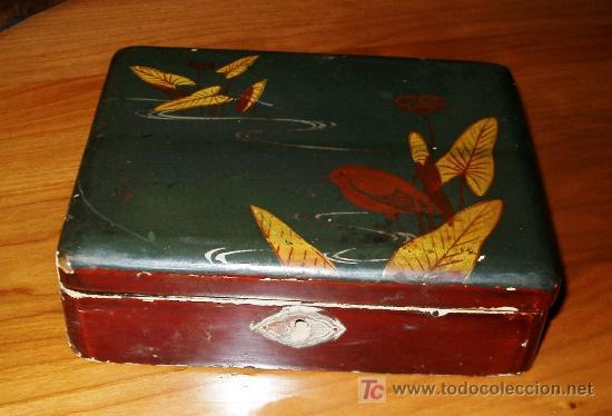 antigua caja de madera lacada para restaurar antigedades hogar y decoracin cajas antiguas