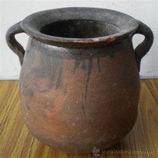 Antigüedades: PUCHERO DE BARRO .. MEDIDAS 22 X 24 X CM.. Lote 19306099