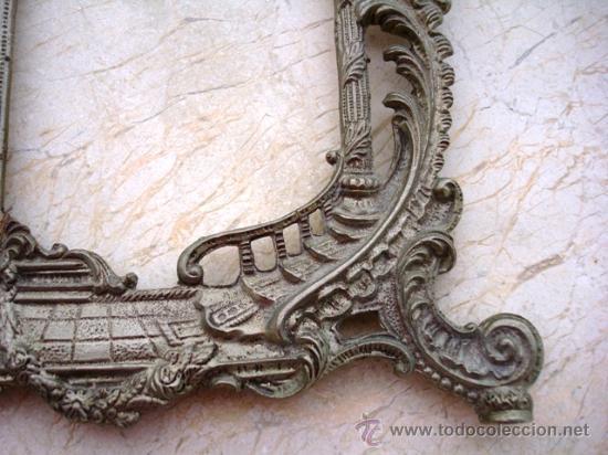 Antigüedades: BONITO MARCO DE METAL PLATEADO ( VER DETALLES ) - Foto 3 - 27316385