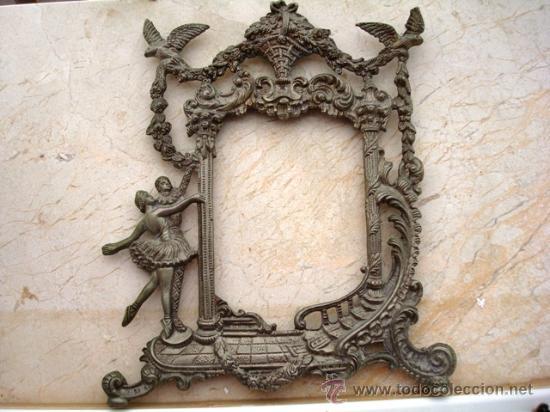 Antigüedades: BONITO MARCO DE METAL PLATEADO ( VER DETALLES ) - Foto 4 - 27316385