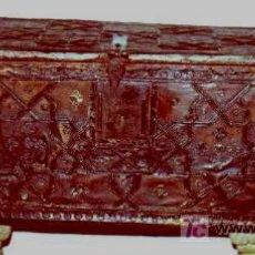 Antigüedades: COFRE ESTILO MUDEJAR. ANTIGUO. TOLEDANO.C/1400-1500. RESTAURADO.VER ESTUDIO, HISTORIA Y FOTOS.. Lote 27164987
