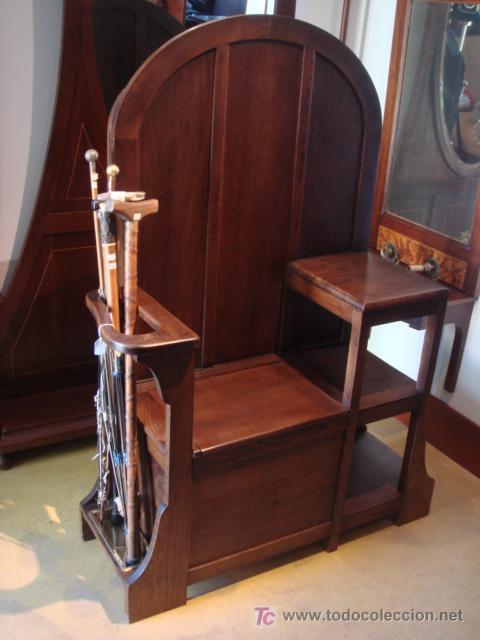 Antiguo banco paraguero y zapatero en madera de comprar for Banco zapatero madera
