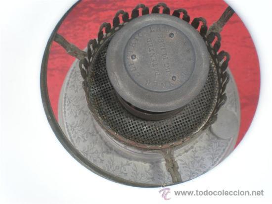 Antigüedades: lampara de petroleo plateada - Foto 3 - 19510787