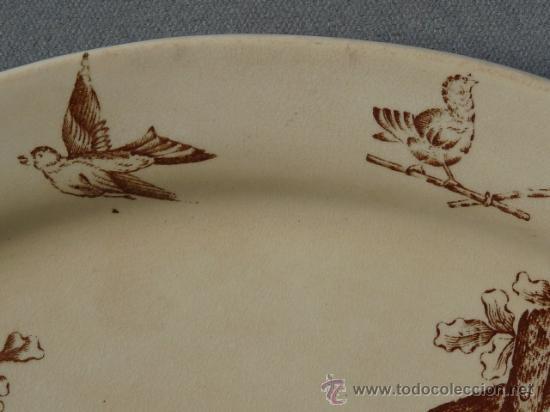 Antigüedades: Antigua bandeja siglo XIX - Dibujo utilizado por Cartagena, San Claudio y otros. - Foto 5 - 24174191