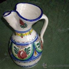 Antigüedades: JARRA DE CERAMICA PUENTE DEL ARZOBISPO- FIRMADA CRUZ. Lote 27225036
