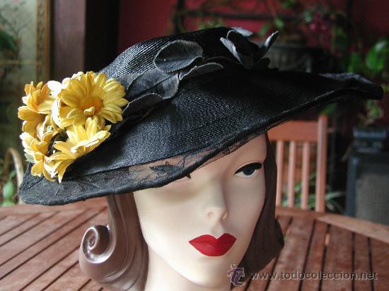 SOMBRERO AÑOS 30 (Antigüedades - Moda - Sombreros Antiguos)