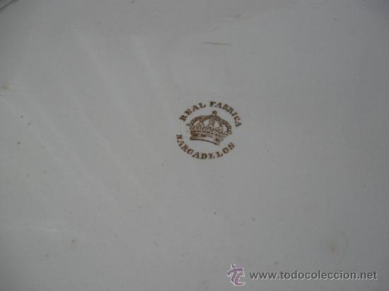 Antigüedades: ENORME FUENTE DE LA REAL FABRICA DE SARGADELOS 3ª EPOCA, SG.XIX. LOZA FINA DE PEDERNAL, PERFECTA. - Foto 6 - 26673489