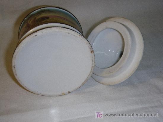 Antigüedades: TARRO DE TOCADOR EN PORCELANA PINTADO A MANO DE LOS 60 - Foto 3 - 26967742