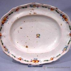 Antigüedades: BANDEJA CERÁMICA ALCORA S XIX. Lote 19560593