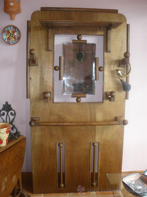 PERCHERO DE MADERA PRINCIPIOS SIGLO XX (Antigüedades - Muebles Antiguos - Auxiliares Antiguos)