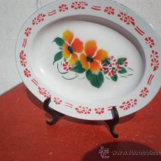Antigüedades: BANDEJA DE LATON. Lote 19638072