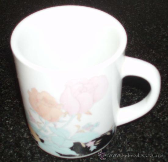 Antigüedades: tres tazas con motivos florales - Foto 2 - 25219305