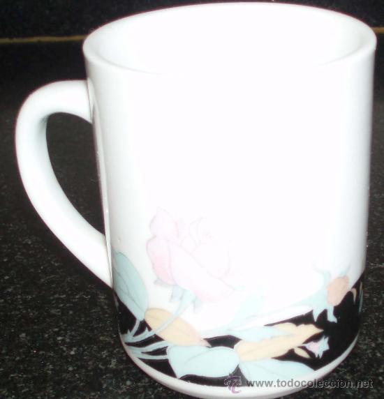 Antigüedades: tres tazas con motivos florales - Foto 3 - 25219305