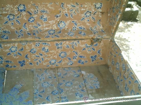 Antigüedades: BAÚL DE MADERA CON ZANCOS SIGLO XIX - Foto 7 - 26228770