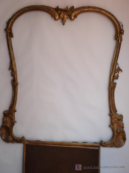 gran marco de espejo isabelino dorado, oro fino - Comprar Espejos ...
