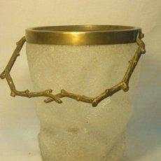Antigüedades: CUBO DE CRISTAL EFECTO DE HIELO. Lote 27346843