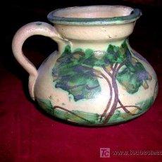 Antigüedades: JARRA TALAVERANA. DIBUJO ARBOLES. VERDE. 10 CM ALTOX 14 CM. . AÑOS 1960-70. .. Lote 25010097