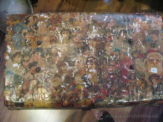 Antigüedades: Baul metálico victoriano - Foto 2 - 27072859