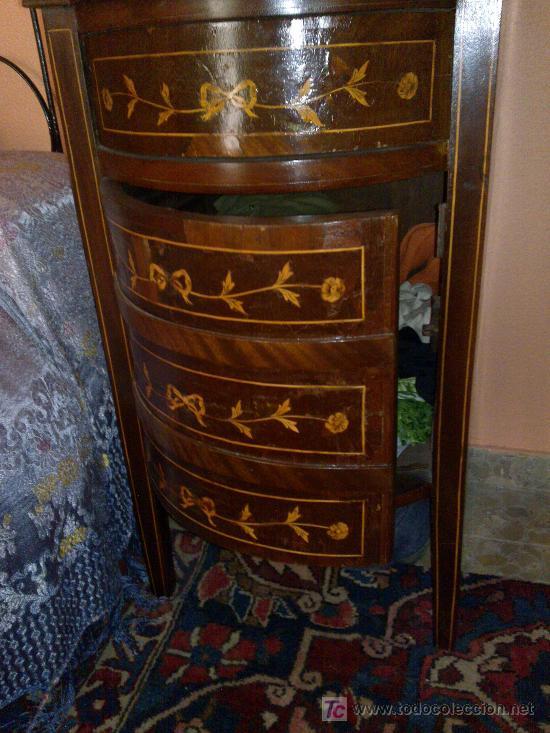 mesa de noche estilo doña maria o luis xvi, por - Comprar Mesas ...