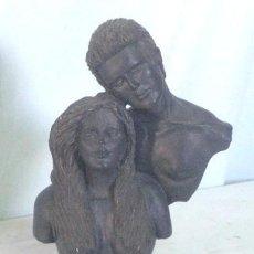 Antigüedades: BONITA FIGURA BUSTOS ENAMORADOS - ADAN Y EVA -.. Lote 24800061