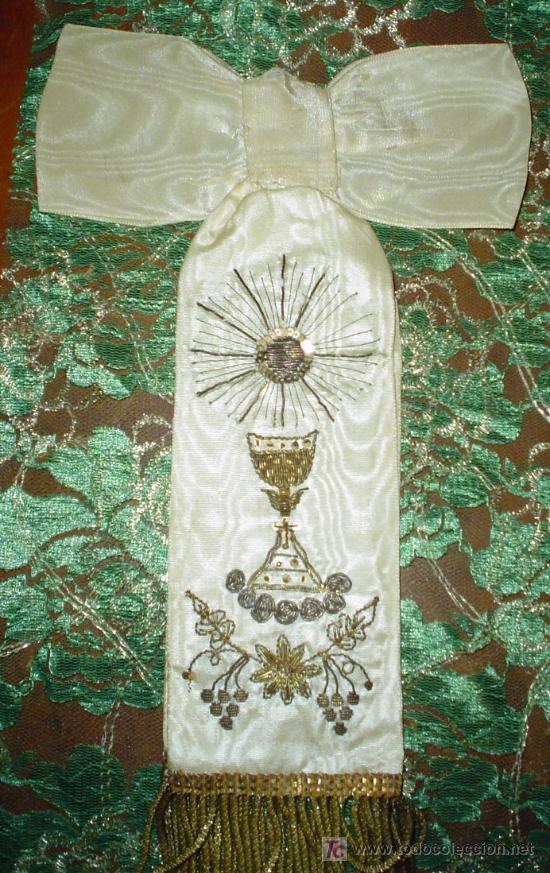 LAZO RECUERDO 1ª COMUNIÓN AÑOS 30 (Antigüedades - Religiosas - Varios)