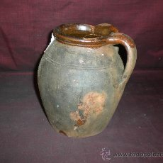 Antigüedades: BONITA VASIJA DE CERÁMICA POPULAR, DE 2 ASAS, S. XVIII-XIX. Lote 19838362