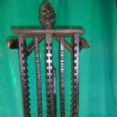 Antiguidades: MUEBLE DE MADERA -ARCHIVADOR C.D.. Lote 19846085