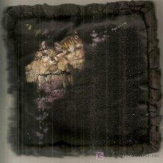 Antigüedades: PEQUEÑO COJÍN PINTADO A MANO: DOS GATOS. Lote 23474635