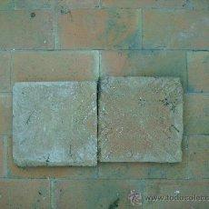 Antigüedades: PAREJA DE BALDOSAS DE BARRO SIGLO XVIII. Lote 26529608