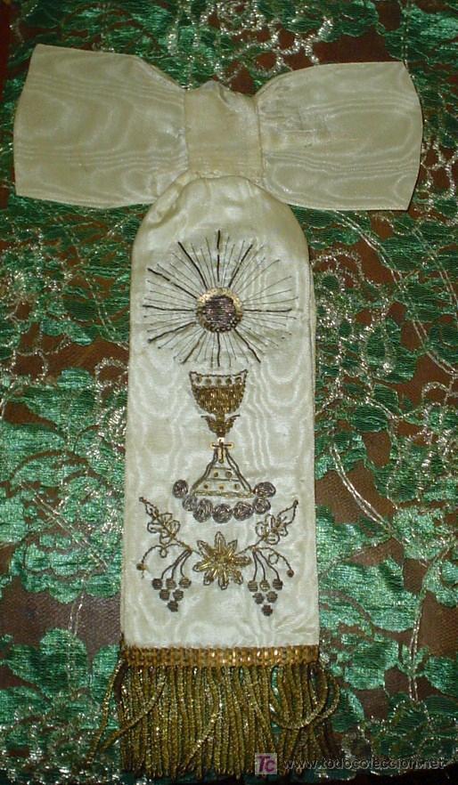 Antigüedades: LAZO RECUERDO 1ª COMUNIÓN AÑOS 30 - Foto 5 - 26143776