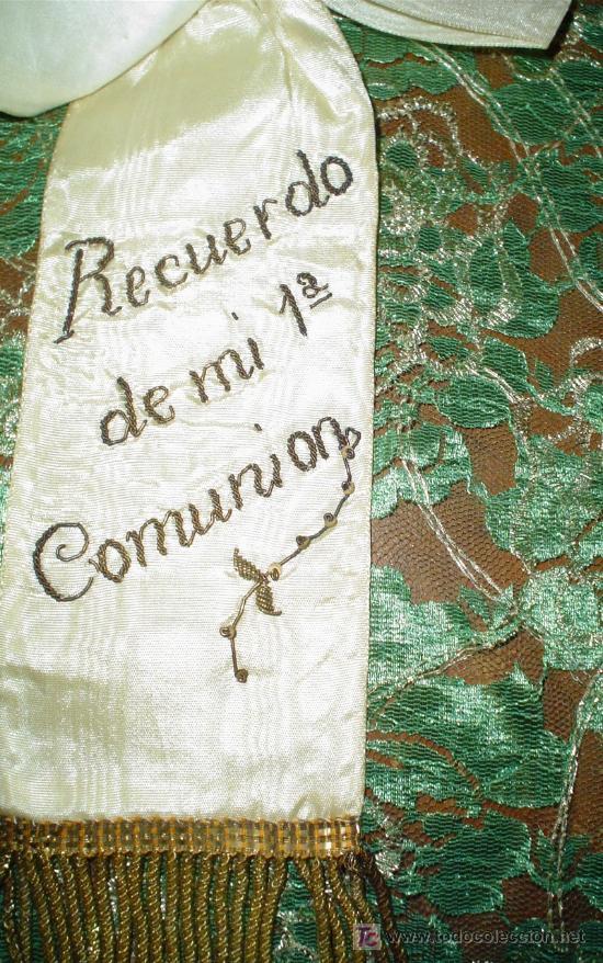 Antigüedades: LAZO RECUERDO 1ª COMUNIÓN AÑOS 30 - Foto 2 - 26143776