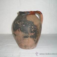 Antigüedades: BONITA VASIJA EN CERÁMICA POPULAR, S XIX. Lote 19857380