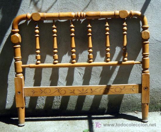 Cabecero de cama torneado madera de haya para comprar - Cabeceros de cama antiguos ...
