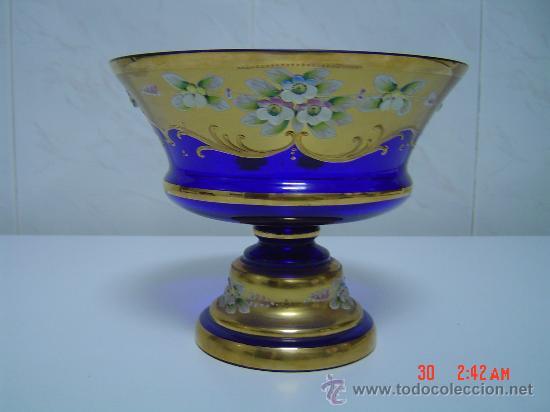 FRUTERO DE CRISTAL VENECIANO (Antigüedades - Cristal y Vidrio - Murano)
