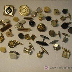 Antigüedades: LOTE DE GEMELOS SUELTOS ANTIGUOS PARA COLECCION. Lote 27611068
