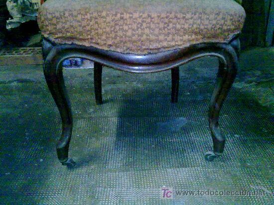 Antigüedades: Lote de 4 sillas isabelinas - Foto 2 - 27570763