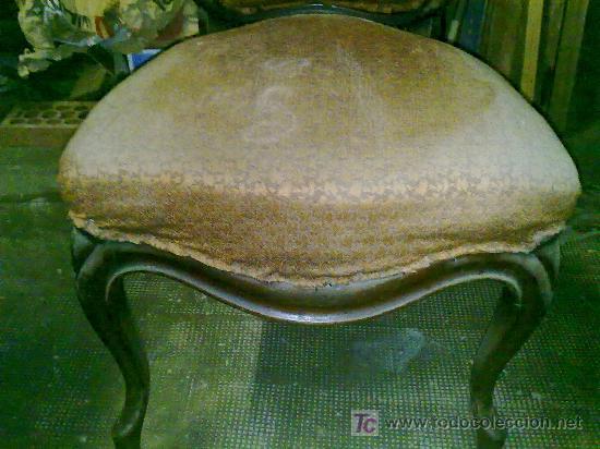 Antigüedades: Lote de 4 sillas isabelinas - Foto 4 - 27570763