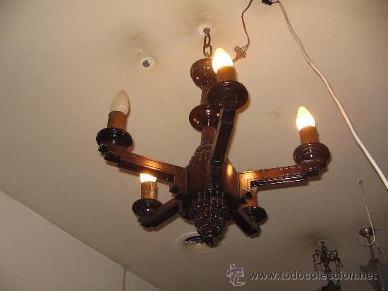lampara de techo de madera Comprar Lmparas Antiguas en
