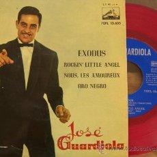 Discos de vinilo: JOSÉ GUARDIOLA - EXODUS - 1961 - VINILO ROJO (EXCELENTE CONSERVACIÓN). Lote 27574930