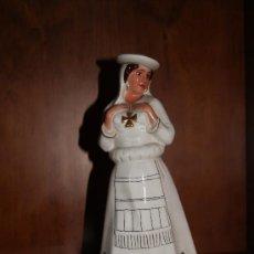 Antigüedades: BOTELLA DE VINO BANDEIRA PORCELANA DE SANTA CLARA BIDASOA VIGO . Lote 26557849