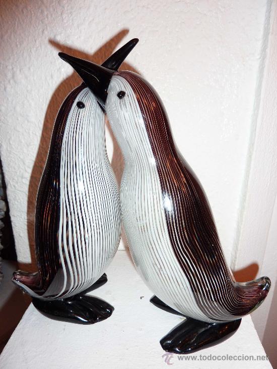 pinguino en cristal de color - Comprar Objetos Cristal y Vidrio ...