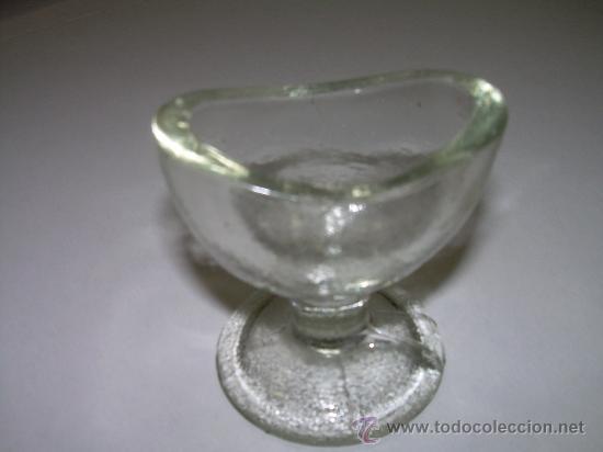 ANTIGUO RECIPIENTE PARA EL CUIDADO DE LOS OJOS (Antigüedades - Cristal y Vidrio - Farmacia )