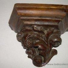 Antigüedades: ANTIGUA MENSULA DE ESTUCO. Lote 26312205