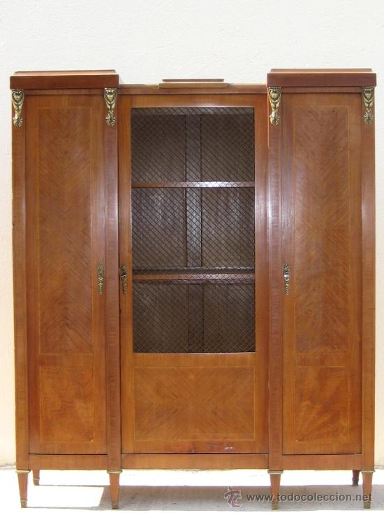 Mueble libreria de estilo luis xvi comprar vitrinas Muebles de sala luis xvi