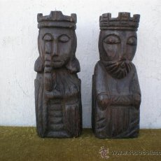 Antigüedades: TALLAS DE MADERA DE REYES . Lote 20189877