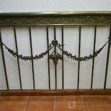 Antigüedades: CABECERO DE METAL CAMA,MATRIMONIO. Lote 20243439