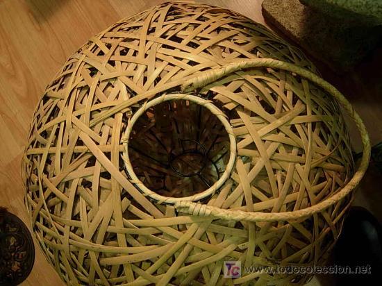 Antigüedades: ORIGINAL LAMPARA DE TECHO HECHA CON CAÑAS - Foto 3 - 26759601