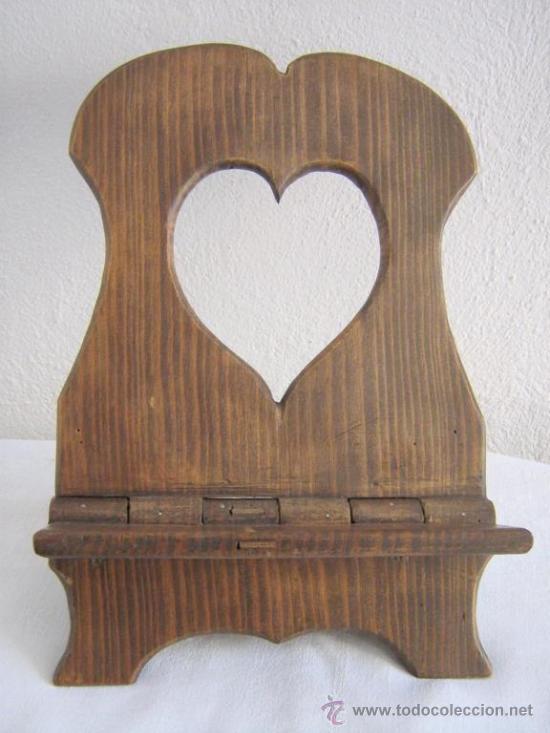 Atril rustico de madera comprar en todocoleccion 20320078 - Atril decoracion ...